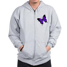 purpleswallowtail Zip Hoodie