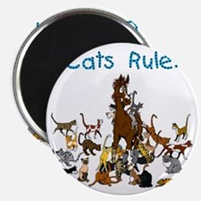 Cats and Horse Magnet