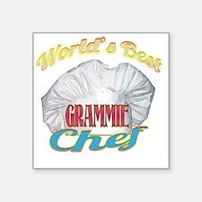 """WORLDS BEST GRAMMIE / CHEF Square Sticker 3"""" x 3"""""""
