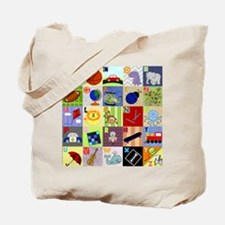 boy alphabet floor blanket copy Tote Bag