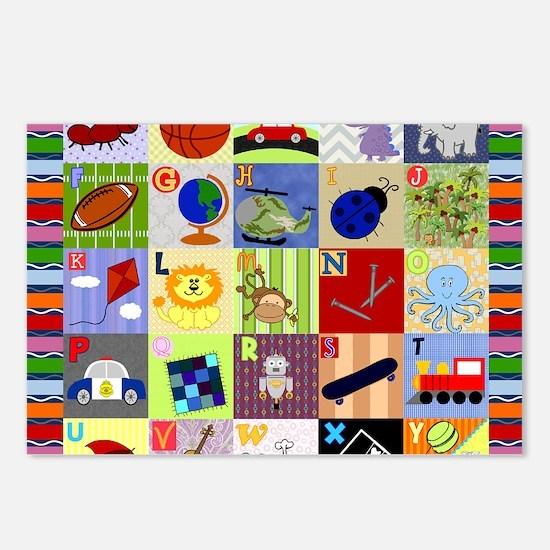 boy alphabet floor blanke Postcards (Package of 8)