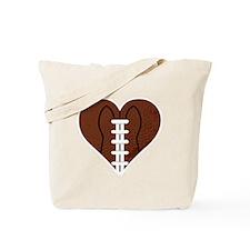 Love_Football_Heart Tote Bag