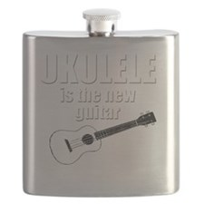 funny hawaii popular ukulele uke Flask
