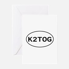 Knitting - K2TOG Greeting Cards (Pk of 10)