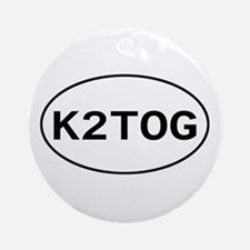 Knitting - K2TOG Ornament (Round)