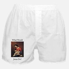 WWJD_Black Text Boxer Shorts