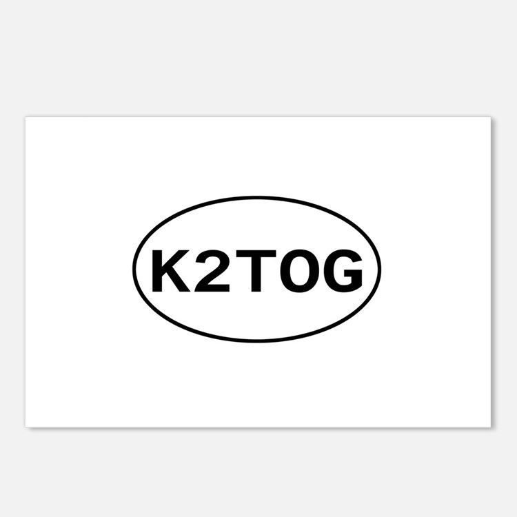 Knitting - K2TOG Postcards (Package of 8)