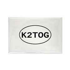 Knitting - K2TOG Rectangle Magnet