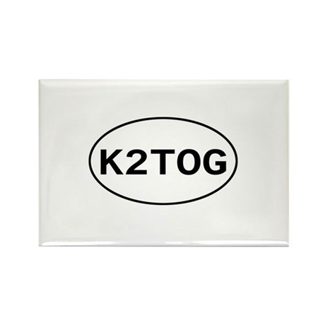 Knitting - K2TOG Rectangle Magnet