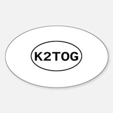 Knitting - K2TOG Oval Decal