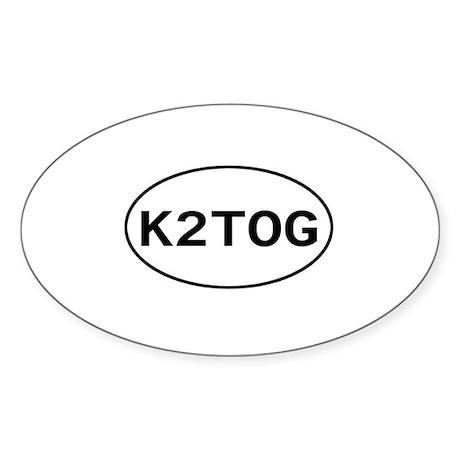 Knitting - K2TOG Oval Sticker