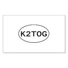 Knitting - K2TOG Rectangle Decal
