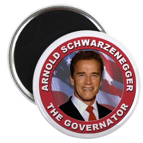 """Arnold """"Govenator"""" Schwarzenegger 2.25"""" Magnet (10"""