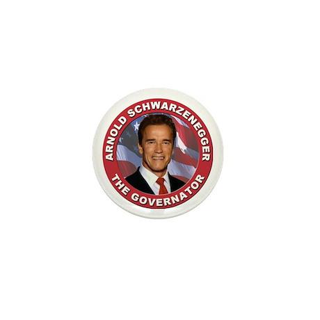 """Arnold """"Govenator"""" Schwarzenegger Mini Button"""