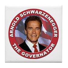 """Arnold """"Govenator"""" Schwarzenegger Tile Coaster"""