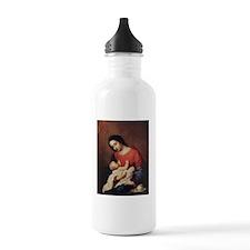 WWJD_White Text Water Bottle
