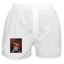 WWJD_White Text Boxer Shorts
