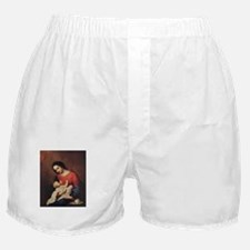 WWJD_White Text Boxer Shorts