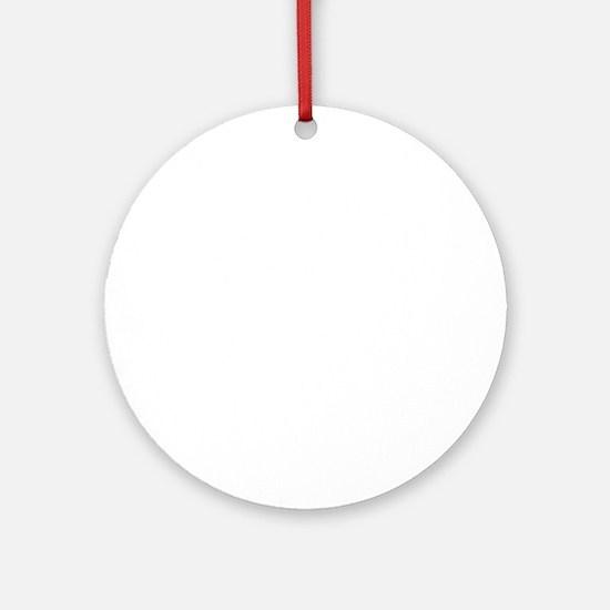 Helmet Vintage White Round Ornament