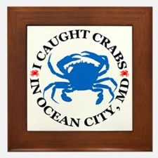 i caught crabs in Ocean City Framed Tile