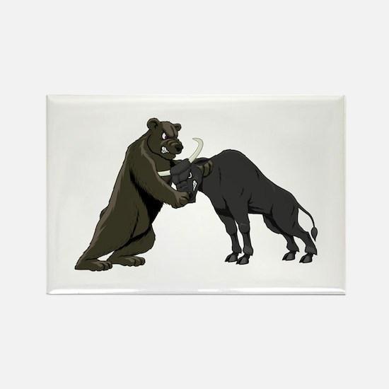 Bull vs. Bear Markets Rectangle Magnet