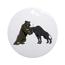 Bull vs. Bear Markets Ornament (Round)