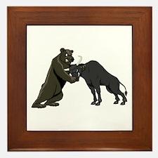 Bull vs. Bear Markets Framed Tile