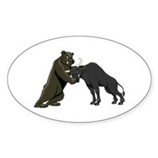 Bull vs. Bear Markets Oval Decal