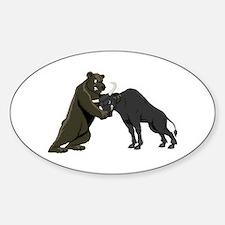 Bull vs. Bear Markets Oval Decal