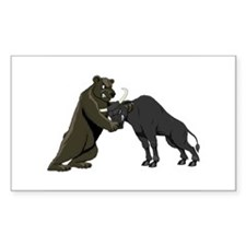 Bull vs. Bear Markets Rectangle Decal