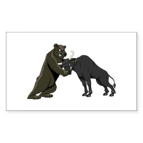 Bull vs. Bear Markets Rectangle Sticker