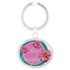 Best Daughter Oval Keychain