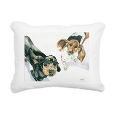 Lily and Twinkie 300 cop Rectangular Canvas Pillow