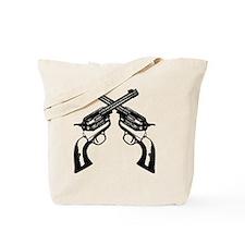 guns_crossed2 Tote Bag