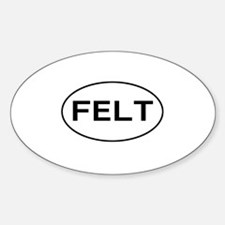 FELT - felting Oval Decal