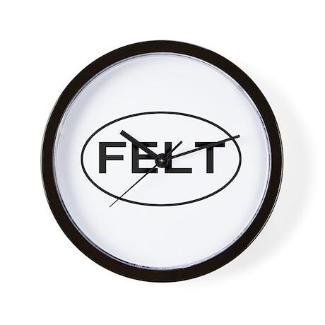FELT - felting Wall Clock