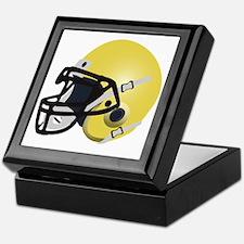 Yellow FootBall Helmet Keepsake Box