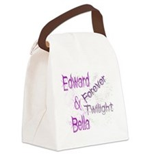 Forever Twilight E  B Canvas Lunch Bag