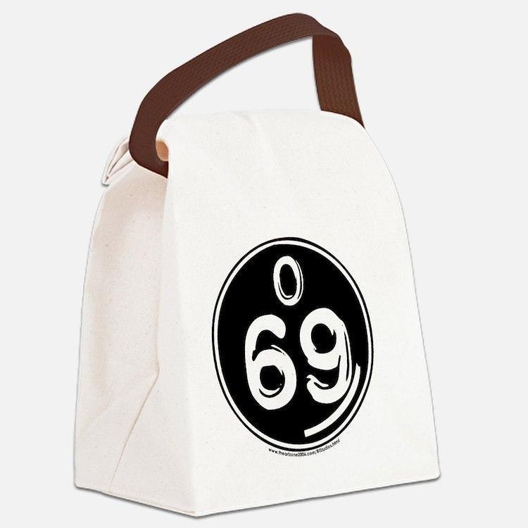 O 69 trans Canvas Lunch Bag