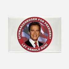 Schwarzenegger for President Rectangle Magnet