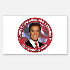Schwarzenegger for President Rectangle Decal