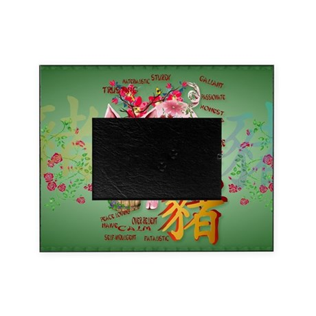 Year Of The Pig In Flowers-Yardsign Picture Frame