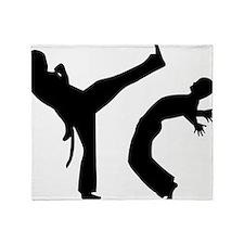 capoeira Throw Blanket
