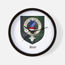 Rose Clan Crest Tartan Wall Clock