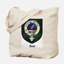 Rose Clan Crest Tartan Tote Bag
