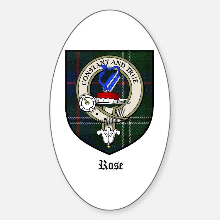 Rose Clan Crest Tartan Oval Decal