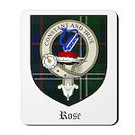 Rose Clan Crest Tartan Mousepad