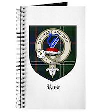 Rose Clan Crest Tartan Journal