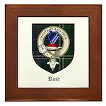 Rose Clan Crest Tartan Framed Tile
