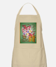LargePosterYear Of The Pig In Flowers Apron